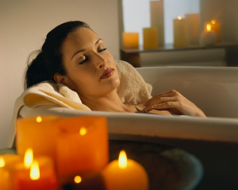 Woman bath relax