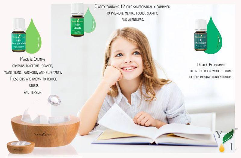 Little Girl Diffusing Oils