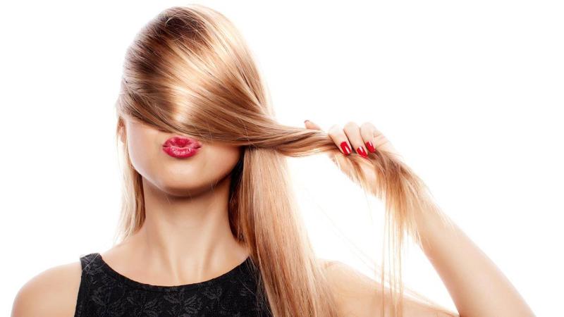 Hair woman kissing