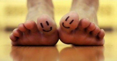 Feet happy
